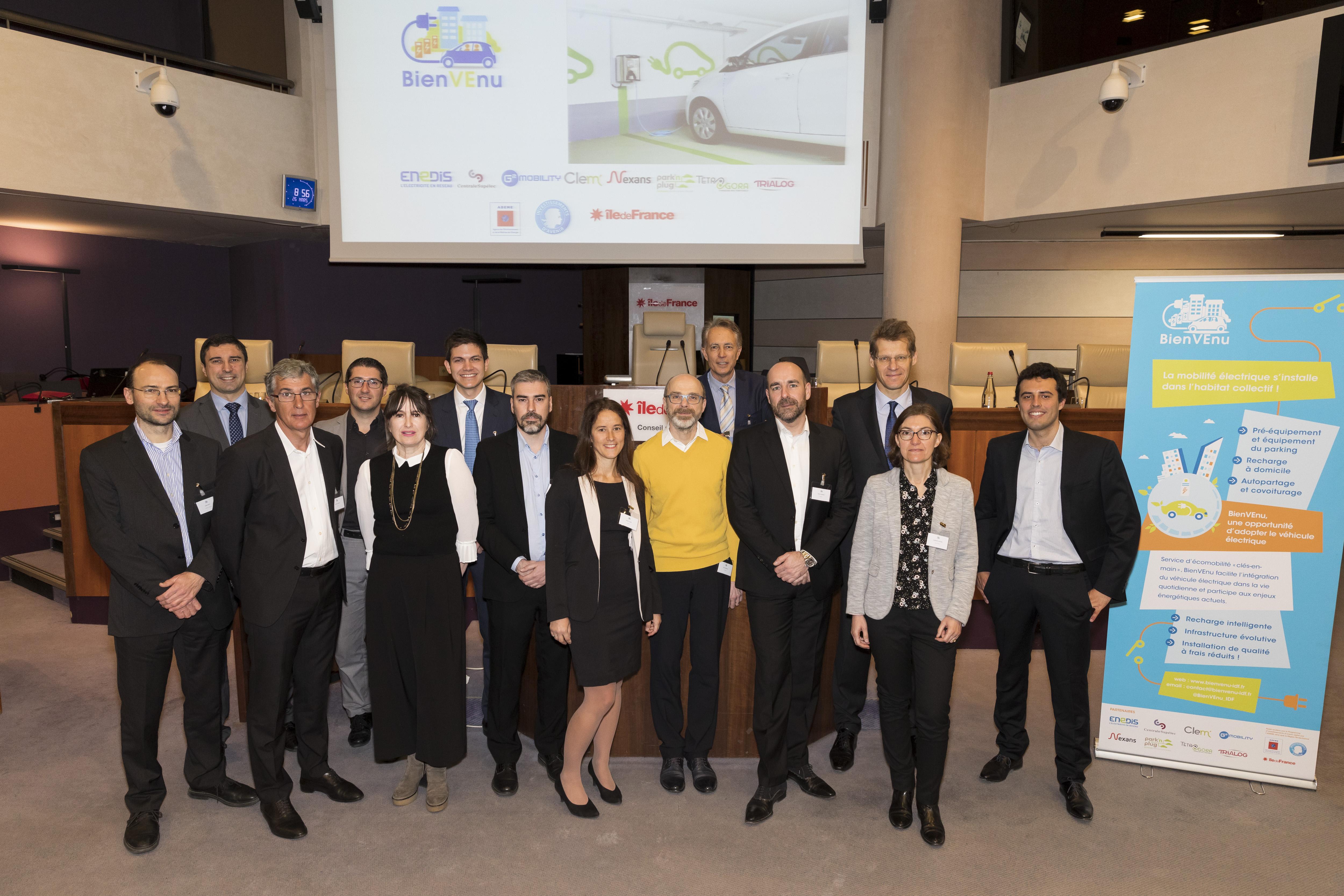 Partenaires du projet BienVEnu solution de recharge innovation